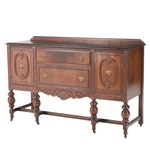 Jacobean Style Walnut, Walnut-Stained, and Grain-Painted Sideboard, circa 1930