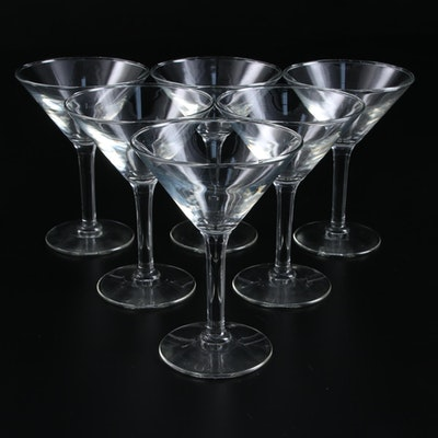 Mid Century Modern Glass Champagne Cups or Martini Glasses, Mid to Late 20th C.