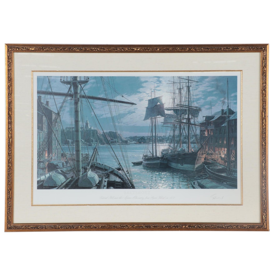John Stobart Offset Lithograph of Baltimore Harbor, circa 2000