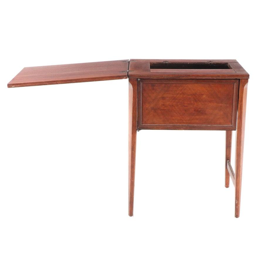 Walnut Sewing Machine Cabinet, Mid-20th Century