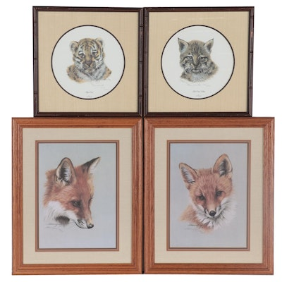 Harold Rigsby and Imogene H. Farnsworth Offset Lithographs of Animals