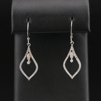 14K Diamond Arabesque Earrings