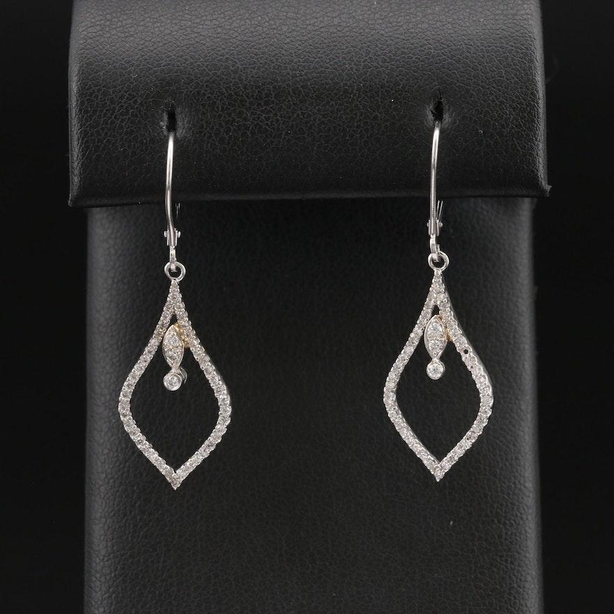 14K Diamond Arabesque Earrings