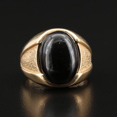 Vintage 14K Black Coral Ring