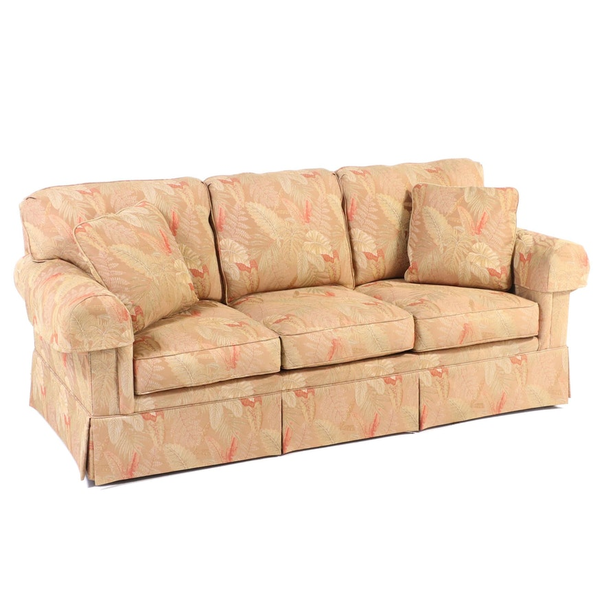 Sherrill Furniture Custom-Upholstered Roll-Arm Sofa