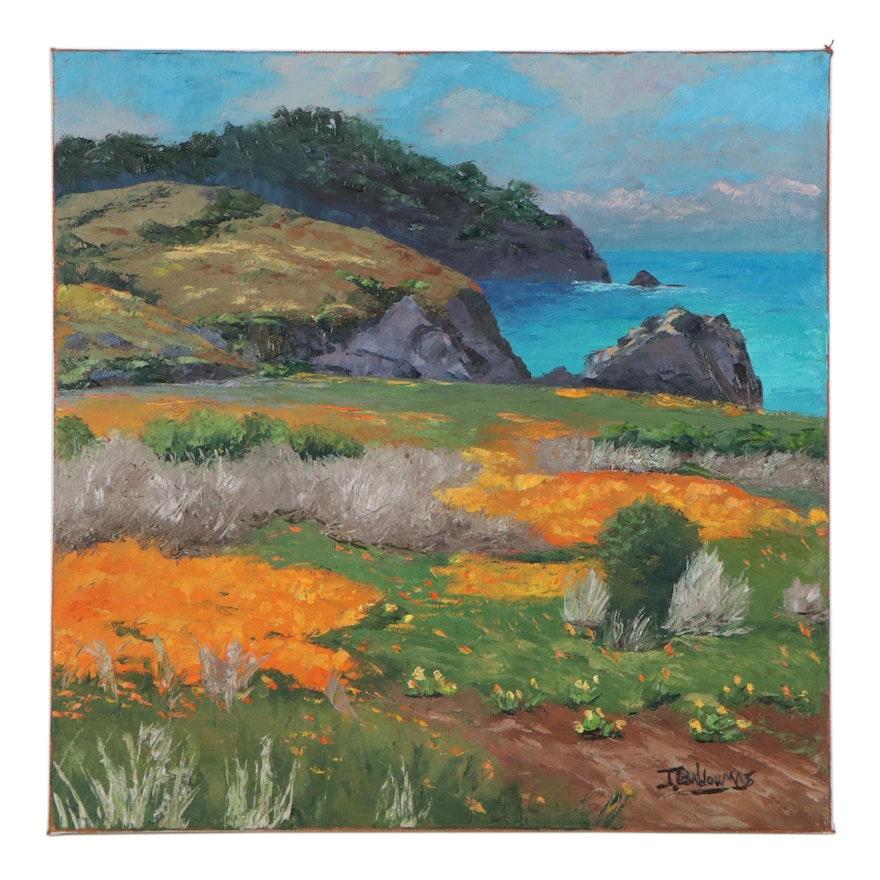 "James Baldoumas Oil Painting ""California Coast,"" 2021"