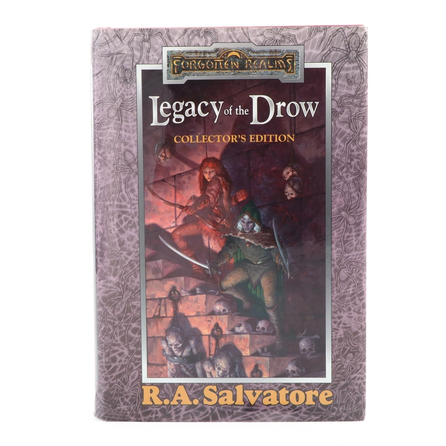"""First Printing """"Legacy of the Drow"""" Collector's Edition by R. A. Salvatore"""
