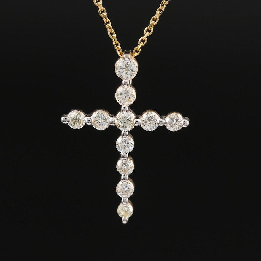 14K Cross Pendant Necklace