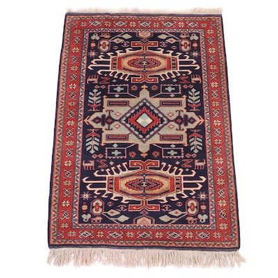 4'10 x 7'10 Hand-Knotted Caucasian Kazak Wool Area Rug
