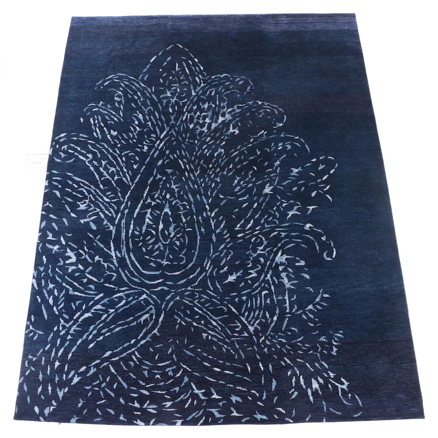 8'7 x 11'5 Hand-Knotted Indian Wool Area Rug from The Rug Gallery