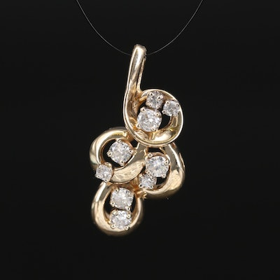 14K Diamond Loop Pendant