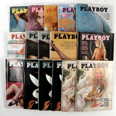 """""""Playboy"""" Magazines Including 20th Anniversary and Playmate of the Year, 1974"""