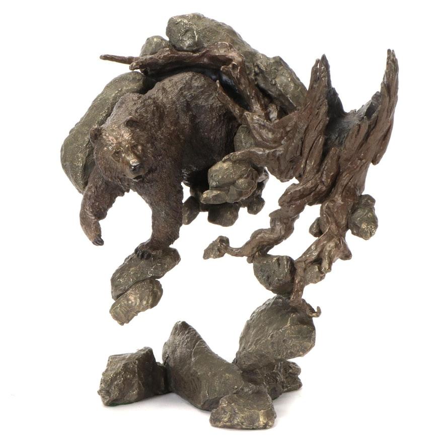 "Mark Hopkins Bronze Sculpture ""Awake and Hungry"""