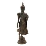 Thai U Thong-Style Bronze Buddha Sculpture