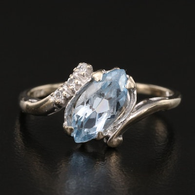 10K Spinel and White Spinel Bypass Ring