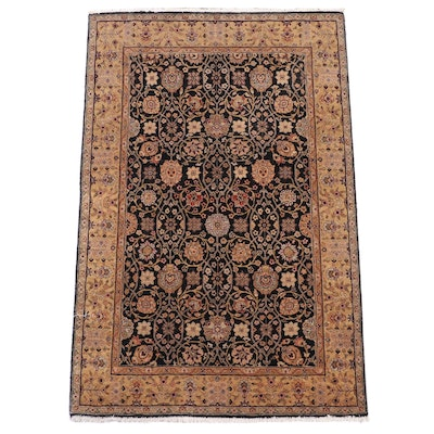 4' x 6'3 Hand-Knotted Indian Mahal Wool Area Rug