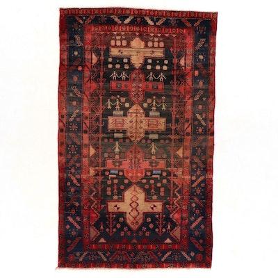 4'8 x 8' Hand-Knotted Persian Kolyai Area Rug