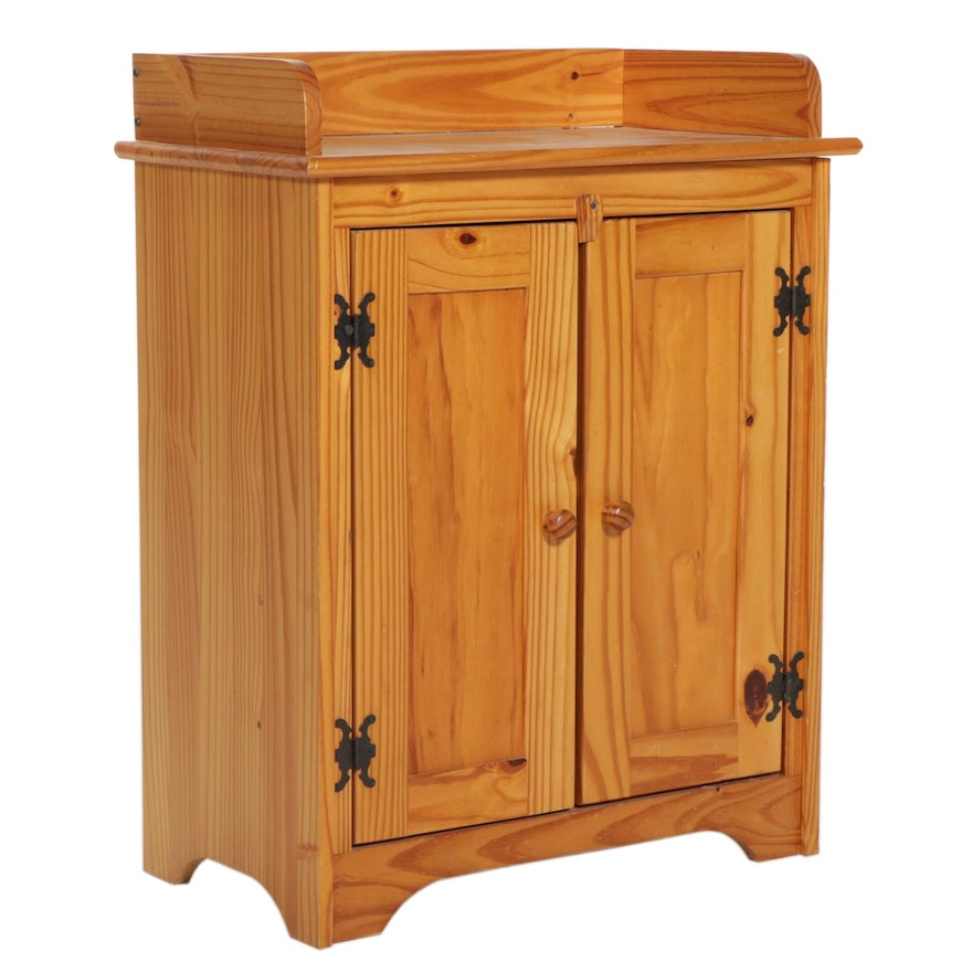 American Primitive Style Pine Side Cabinet