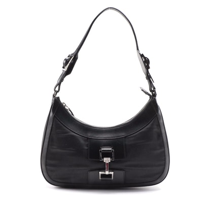 Gucci Jackie Shoulder Bag with Black Leather Trims