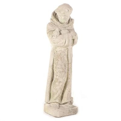 Cast Stone Garden Sculpture of St. Francis
