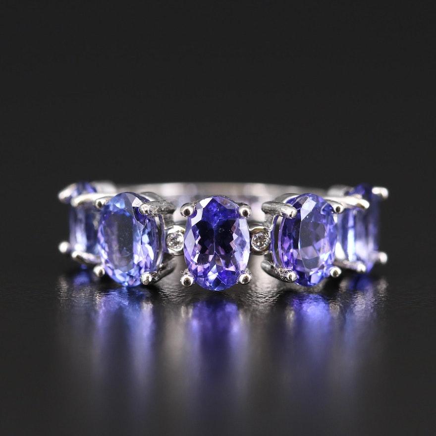 14K 4.21 CTW Tanzanite and Diamond Ring