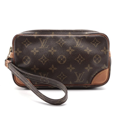Louis Vuitton Wristlet Pochette in Monogram Canvas