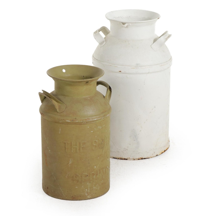 Farmhouse Milk Cans, Featuring Sage Green Springfield Purity Dairy Co.