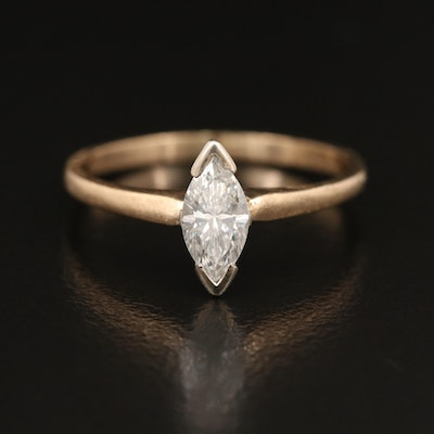 14K 0.45 CT Diamond Solitaire Ring