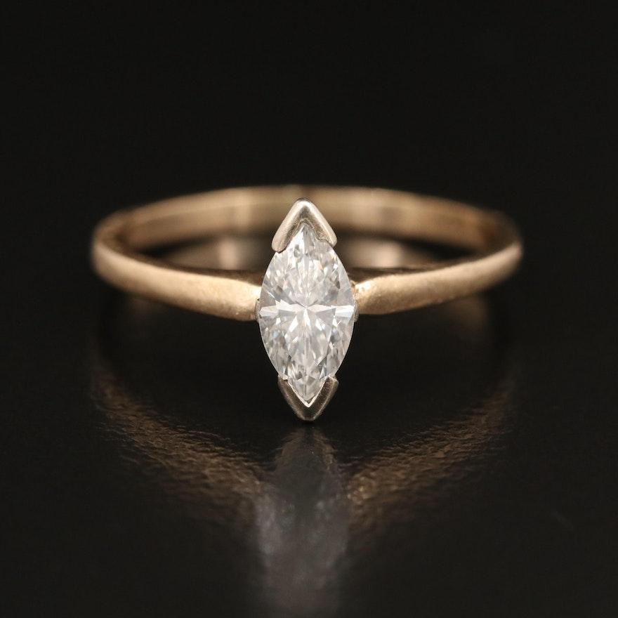 14K 0.45 CT Diamond Solitaire Ring