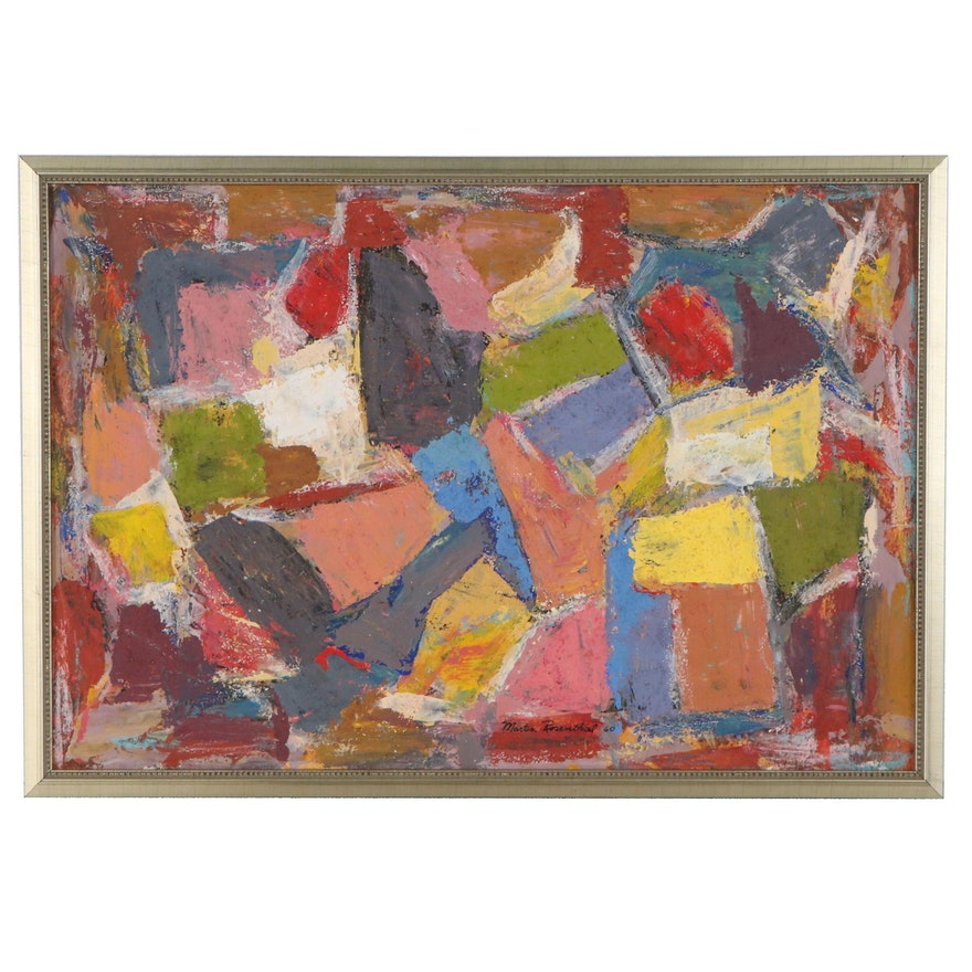 Martin Rosenthal Abstract Oil Painting, 1960