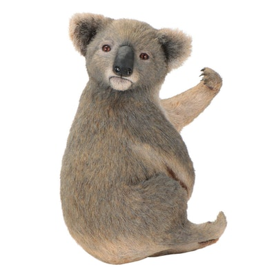 Anne Andersson Life-Size Koala Sisal Sculpture