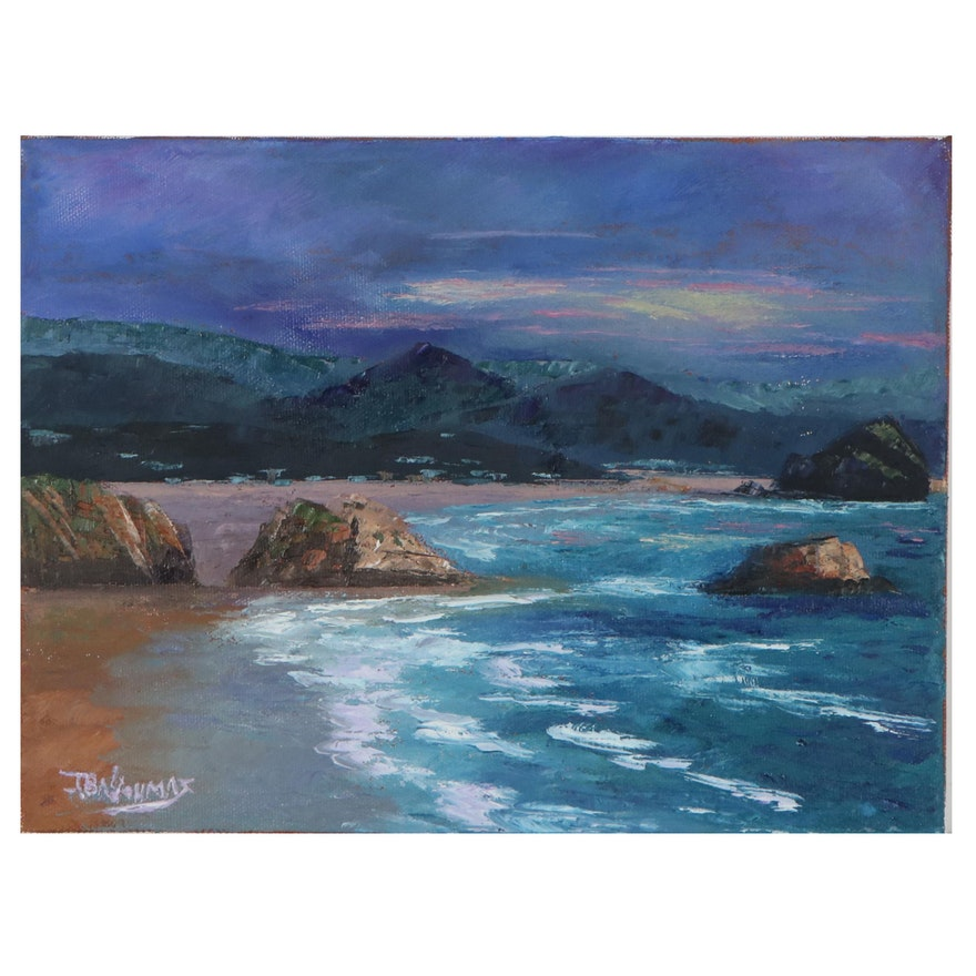 "James Baldoumas Oil Painting ""Coastal,"" 2021"