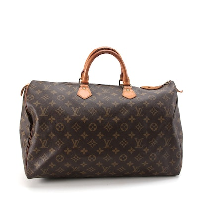 Louis Vuitton Speedy 40 in Monogram Canvas and Leather