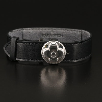 "Louis Vuitton ""Monogrammed Millennial Wish"" Leather Bracelet"