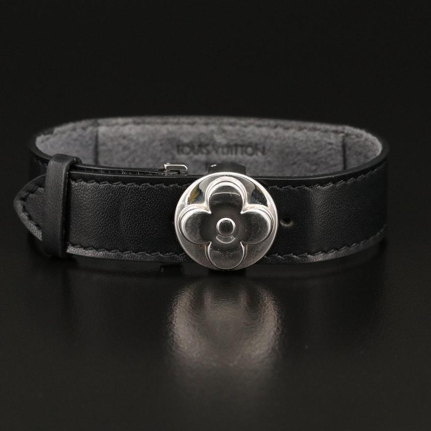 "Louis Vuitton ""Monogrammed Millennial Wish"" Leather Bracelet"
