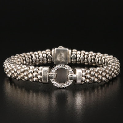 Caviar by Lagos Sterling Diamond Bracelet