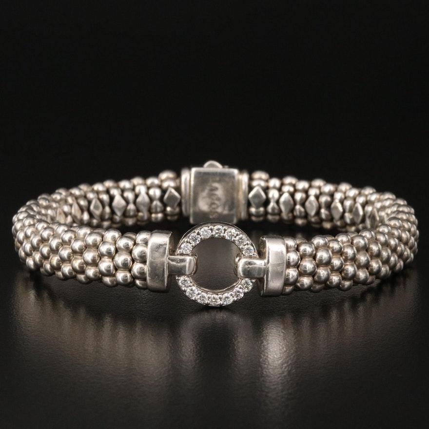 Caviar by Lagos Sterling Diamond Bracelet