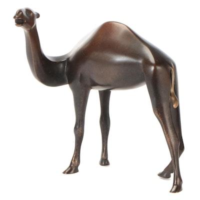 Loet Vanderveen Bronze Sculpture of a Camel