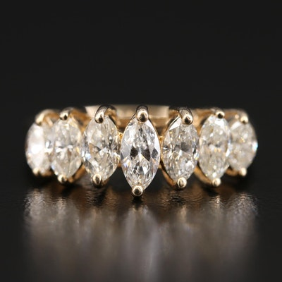 14K 2.03 CTW Diamond Pyramid Ring
