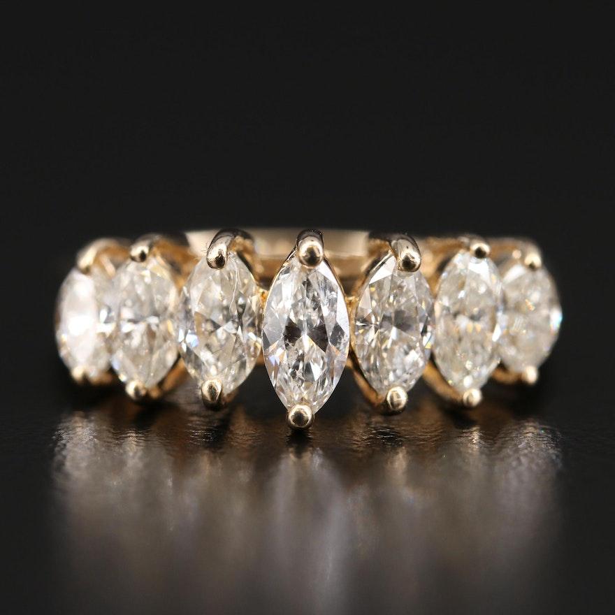 14K 2.03 CTW Diamond Pyramid Ring