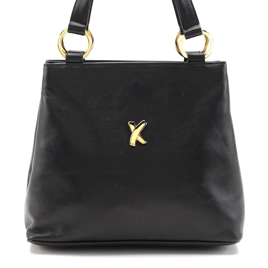 Paloma Picasso Handbag in Black Leather