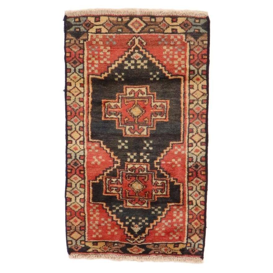 1'10 x 3'1 Hand-Knotted Northwest Persian Rug, 1970s