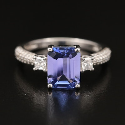 EFFY 18K 2.09 CT Tanzanite and Diamond Ring