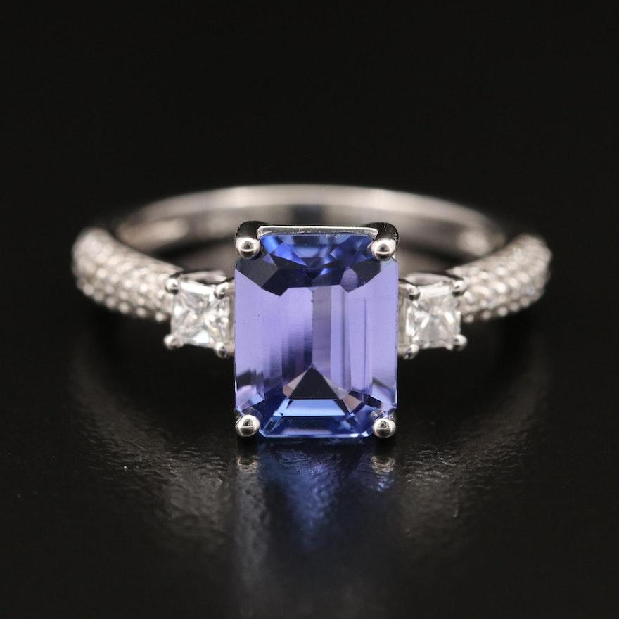 EFFY 18K 2.09 CT Tanzanite and Diamond Ring