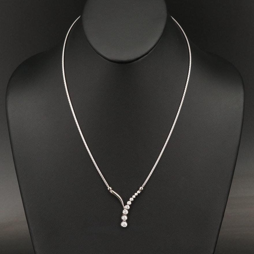 14K Diamond Journey Necklace