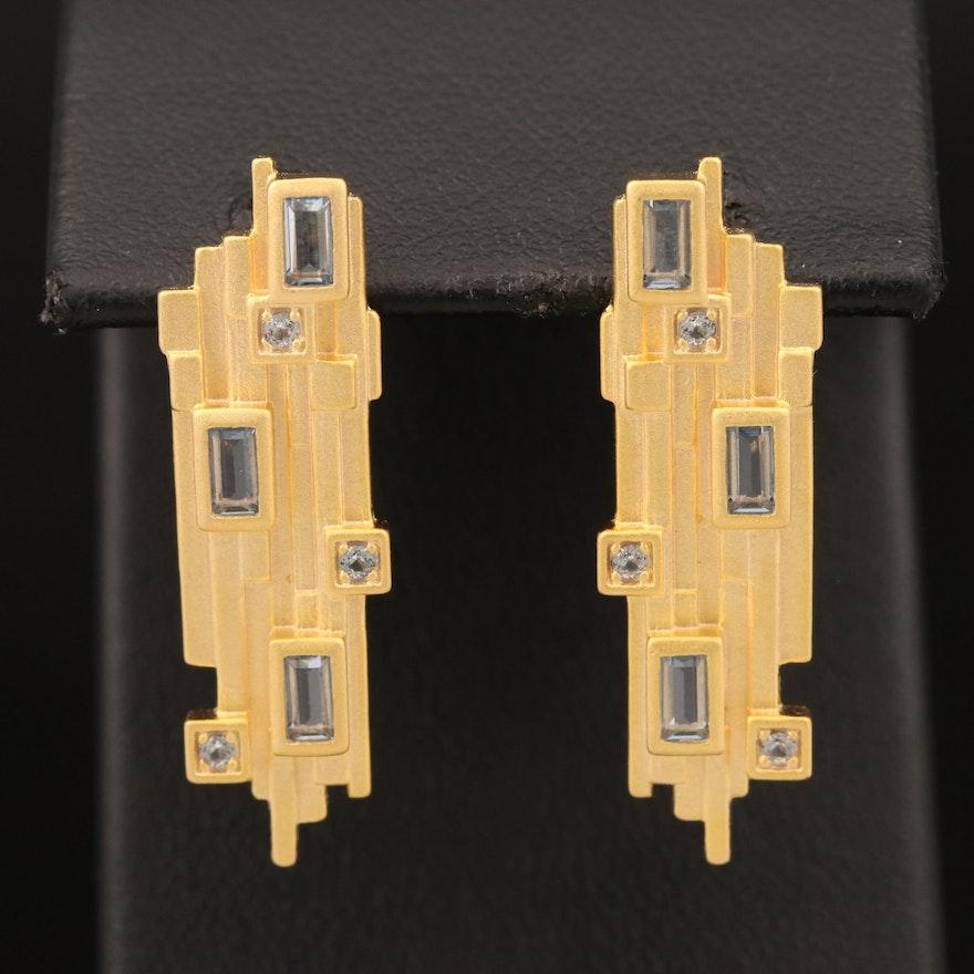 Sterling Spinel Earrings
