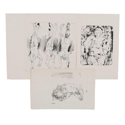 John Tuska Figural Lithographs, 1970
