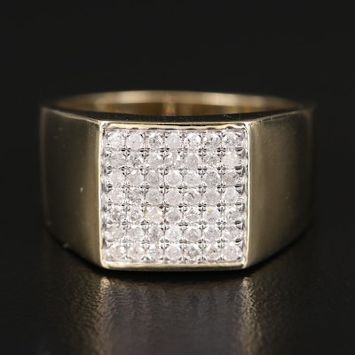 10K Diamond Tapered Ring