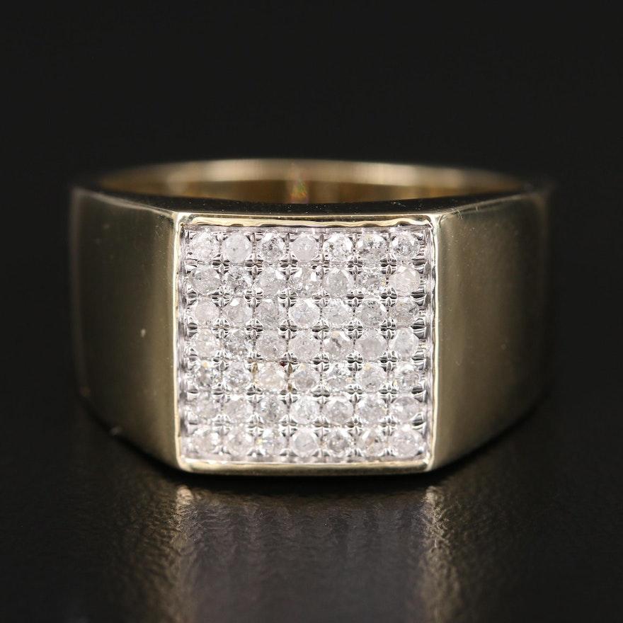 10K Diamond Tapered Ring