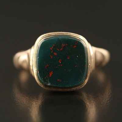 Vintage 10K Bloodstone Ring